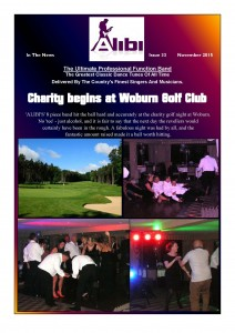 ALIBI 8 Piece Band - Charity Ball at Woburn Golf club